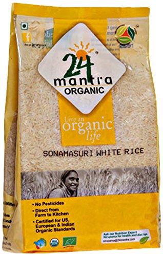 24 Mantra Organic Sonamasuri White Rice, 2kg