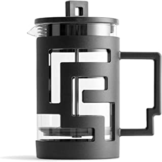 Cafetera de émbolo Patrón de Laberinto Prensa Pot Coffee Pot Francesa del Recorrido del hogar Fundamentos de café Applianc...