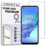 REY Protector de Pantalla para OPPO A53s - OPPO A53, Cristal Vidrio Templado Premium