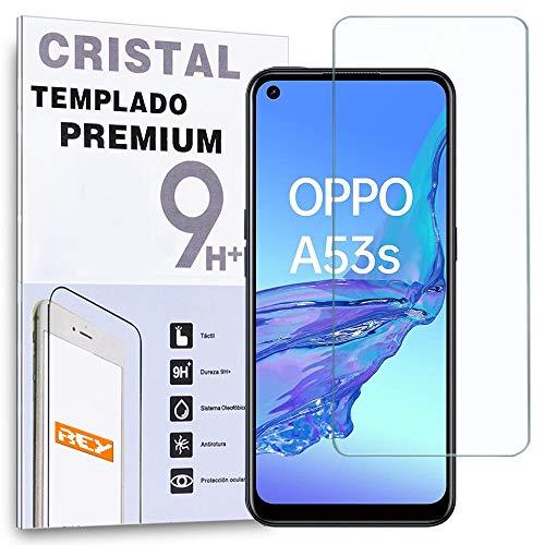 REY Protector de Pantalla para OPPO A53s, Cristal Vidrio Templado Premium