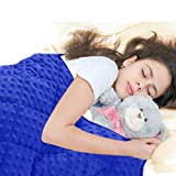MAXTID Blue Weighted Blanket for Kids 7 lb for Children 70-90 lbs Heavy Blankets with Premium Glass Beads for Deep Sleep 41x60inches