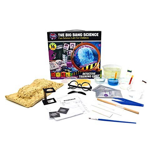 BIG BANG SCIENCE   Science Kit Chemistry Set for Kids   STEM Toys for Kids Age 8+   Detective Training Edu Kit   Exploring Learning Toys for Boys and Girls   14 Activities & 41 Pcs