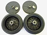 Set of 2, Original FSP Lawn Mower Wheel Kit 193144, Includes 2 Dust Covers # 189403. Has Metal Bushings, Not Plastic.