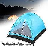 lahomie Tenda Campeggio 2 Posti Leggera, Tenda Apertura Istantanea 2-3 Persone Tenda Antivento Impermeabile Portatile per Spiaggia Viaggi Famiglia Giardino Blu