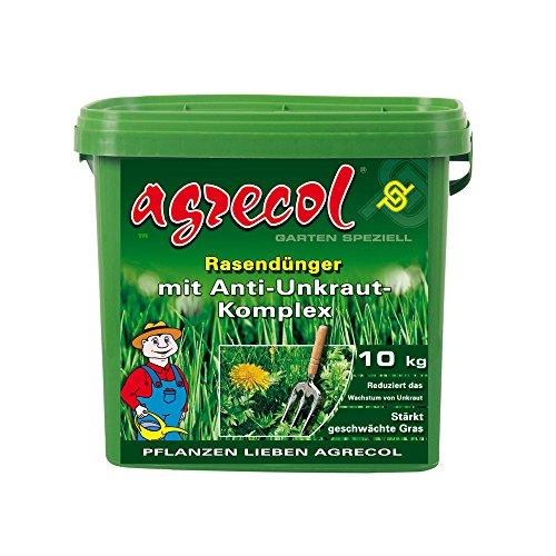 Premium Rasendünger mit Unkrautvernichter gegen Unkraut im Rasen - hochergiebig 10Kg für 500m² Rasenfläche