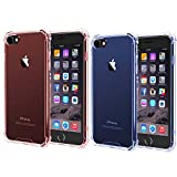 [2Pack] Compatible with iPhone 6 Case,iPhone 6s case, iEugen iPhone 6/6S Plus Crystal Clear Shock Absorption Bumper Slim Fit Heavy Duty Protection Soft TPU Cover Case for iPhone 6/6S- Rosegold+Blue