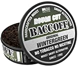 BaccOff, Original Wintergreen Rough Cut, Premium Tobacco Free, Nicotine Free Snuff Alternative (5 Cans)