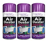 SKYTE 3 X 200ML AIR CAN Duster Spray CAN Cleaner Clean & Protects Laptop Keyboard Electronics
