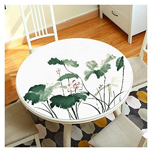 n.g. Family Life Equipment - Mantel de mesa de PVC, mantel de hule duradero e impermeable, tamaño personalizado, una variedad de diseños a elegir (color: talla C, diámetro de 75 cm)