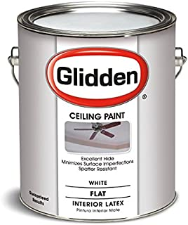 Latex Ceiling Paint, 2070T/01, Flat, Interior, 1 gal, White