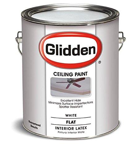 Glidden Interior Latex Ceiling Paint, White, Flat,1 gal
