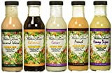 Walden Farms Salad Dressing - Thousand Island-Honey Dijon- French- Caesar- Balsamic Vinaigrette - Calorie Free, Fat Free, Gluten Free, Sugar Free - Variety Pack 5x12oz