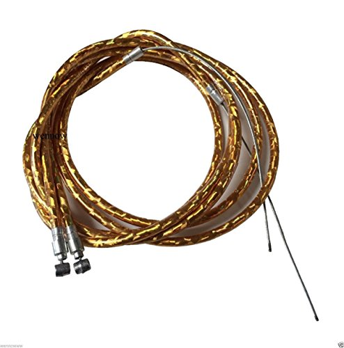 wennow bike cables Wennow 1 Pair Bicycle Black Plastic Coated Hand Brake Cable Wire