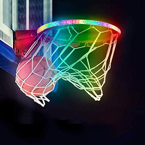 Read About YYXX PENGYUCHANG Basketball Rim LED Light Sports Swish Super High Brightness, Waterproof,...