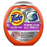 Tide Hygienic Clean Heavy 10x Duty Power PODS Laundry Detergent Pacs, Spring Meadow, 41 count, For Visible and Invisible Dirt