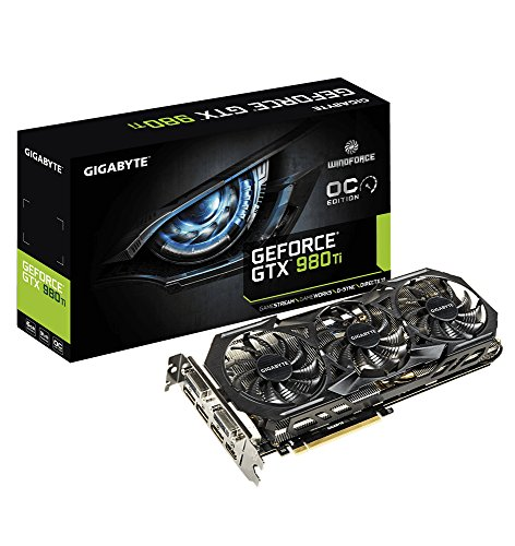 Gigabyte GV-N98TWF3-6GD GeForce GTX 980 Ti 6GB GDDR5 - Tarjeta gráfica (GeForce GTX 980 Ti, 6 GB, GDDR5, 384 bit, 4096 x 2160 Pixeles, PCI Express 3.0)