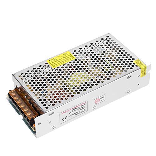 Adaptador de controlador de fuente de alimentación de interruptor DC12V Fuente de alimentación de aleación de aluminio(S-150-12(12V/12.5A/150W)AC110/220V±15%)