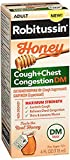 Robitussin Adult Honey Cough + Chest Congestion DM Liquid - 4 oz, Pack of 2