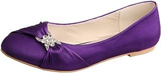 Zapatos esMorado Bailarinas Complementos PlanosY Amazon tCQshrd