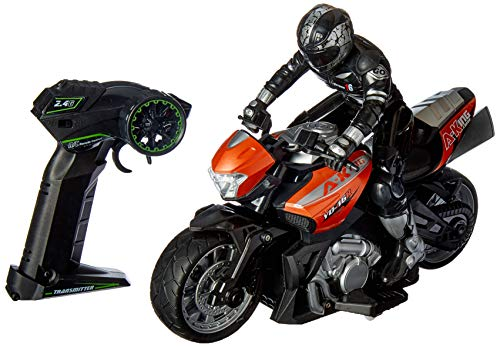 Click N' Play Cross Country High Speed RC Remote Control Stunt Motorcycle with Riding Figure-Colors & Styles May Vary!