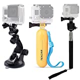 Best Waterproof Go Pro Sticks - TEKCAM Car Suction Cup Floating Handheld Grip Mount Review