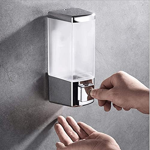 Dispensador de Jabón Dispensador de jabón de la bomba de pared del dispensador, dispensador de jabón de la prensa de la prensa de la ducha de jabón de plástico con ducha transparente 50 0ML - Bomba de