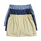 Polo Ralph Lauren Classic Fit 3 Packaged Woven Boxers Rustic Navy Aopp/Summer Stripe/Sag Harbor Plaid 2XL