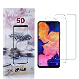 CUSKING Galaxy M10 Screen Protector Tempered Glass, Ultra Clear Screen Protector for Samsung Galaxy M10, Drop Fall Protection, 9H Hardness, 2 Pack