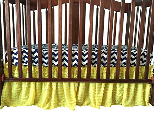 Yellow Crib Skirt for Baby Girl Nursery Bedding Dust Ruffle