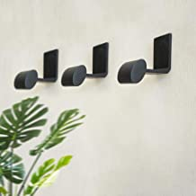Moderne eenvoudige haak zwarte decoratieve muur jas hangers tas sleutels haken hoed hangers stropdas haken zinklegering haak