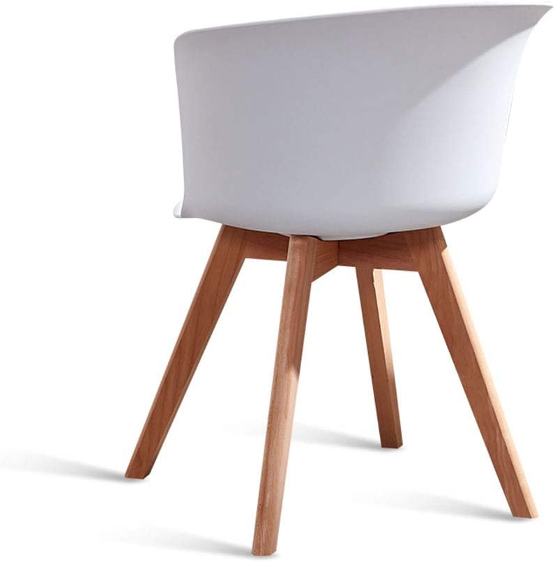 ALY Chaise de Salle à Manger Nordique Mode Simple Chaise Ergonomique Design Chaise de Bureau Chaise en Bois Massif Accueil Loisirs Chaise Restaurant en Plein air White