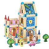 Uyuke 128 Teile/Satz Holz Puppenhaus DIY Haus Kit Familie BAU Spielset Geschenk für Kinder