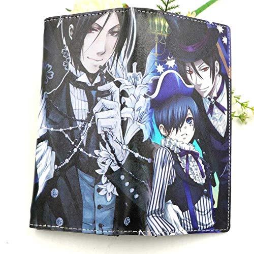 WYTX Brieftasche Schwert Art Online Anime Lange Kupplung Brieftasche SAO Kirigaya Kazuto Karte Halter Geldbörse,Black Butler-2