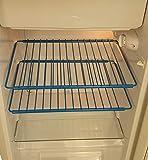 Griglia media vari colori per frigorifero o mobili pensili estensibile da 38x32 a 64x32 con viti a scomparsa di fissaggio (Rosso)