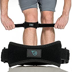 commercial Patella straps to support the knee in arthritis, ACL, running, basketball, meniscus injuries, sports and more. patella tendon brace