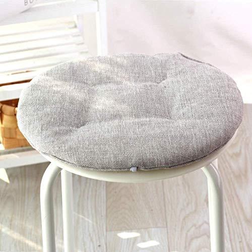 No antideslizante cojines de la silla con los lazos for sillas de comedor, lino suave Ronda del amortiguador de asiento transpirable Decoración -orange Diameter45cm (18 pulgadas), Tamaño: diameter45cm