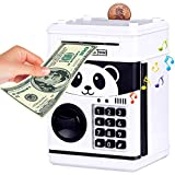 CALISTOUK - Huchas, HuchaElectronica, Hucha Dinero Bancos Electrónica Digital Mini ATM Ahorro de Bancos, Cajas de Ahorro de la Moneda Regalo, Color Blanco