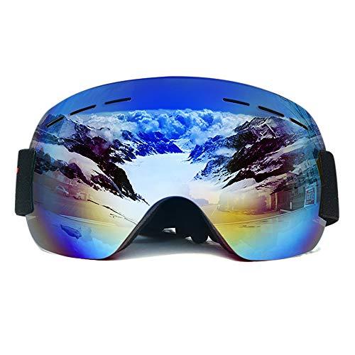 ZXLIFE@@ snowboardbrillen, skibrillen met verstelbare riem, sneeuwveiligheidsbrillen, stof- en vloeistofbestendigheid, elke geschikte helm 3