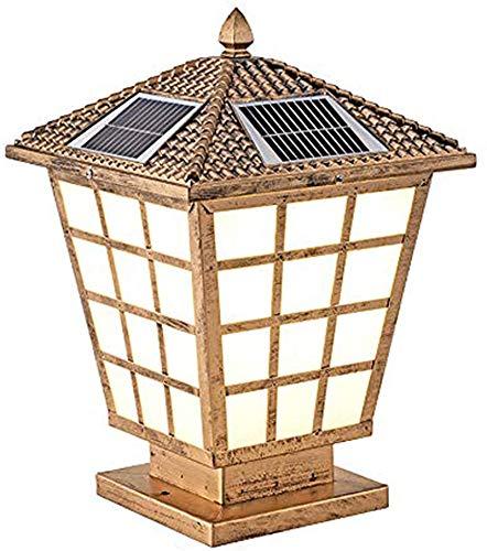 HZWLF Solar LED Post Cap Lights,Outdoor Garden IP66 Waterproof Landscape Post Cap Lamp,Vintage Aluminum Garden Column Lamp for Wooden Posts,Deck,Patio,Fence,Yard,Balcony