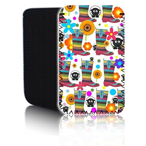 Biz-E-Bee 'Gummistiefel–Weiß' (7HD) Schutz Neopren Tasche für Xiaomi Mi Pad 2–Stoßfest und wasserabweisend Abdeckung, Hülle, Tasche,–Schnell Schiff UK