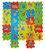 Sesame Street Alphabet Foam Floor Puzzle. Plus Bonus Reward Stickers and 1 Box of Sesame Street Flash Cards (Design May Vary).