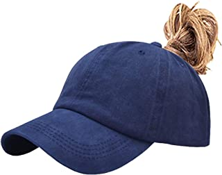 Aedvoouer Men Women Baseball Cap Vintage Cotton Washed Distressed Hats Twill Plain Adjustable Dad-Hat