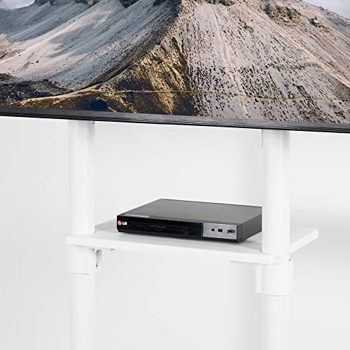 VIVO Mobile Premium TV Cart for 37 to 70 inch Flat Screens, Samsung Digital Flipchart, Microsoft Surface Hub 2S, Luxury Portrait to Landscape TV Display Stand with Wheels, White STAND-TV02PW Photo #9