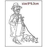 犬と女性DIYスクラップブッキングフォトアルバム用透明クリアシリコンスタンプシール装飾クリアスタンプ