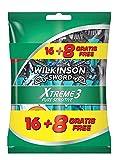 Wilkinson Sword Xtreme 3 Pure Sensitive - Maquinilla de afeitar para hombre, 24 unidades