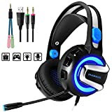 PHOINIKAS H4 Wired Stereo Gaming Headset for Xbox One, PS4, PC,...