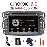 Car Stereo Radio in Dash Navigation for GMC Sierra Yukon Chevrolet Buick Chevy Silverado,7 inch HD Touchscreen Android 10.0 Double Din DVD Player Bluetooth with Rear View Camera,16GB SD Card,3.5mm Mic