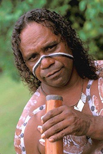 Australia Queensland Caims Aboriginal Didgeridoo Print Type Paper Size: 24.00 x 36.00 inches Licensor: Danita Delimont