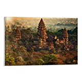 Angkor Wat Reise-Poster, Leinwandbild, Heimdekoration,