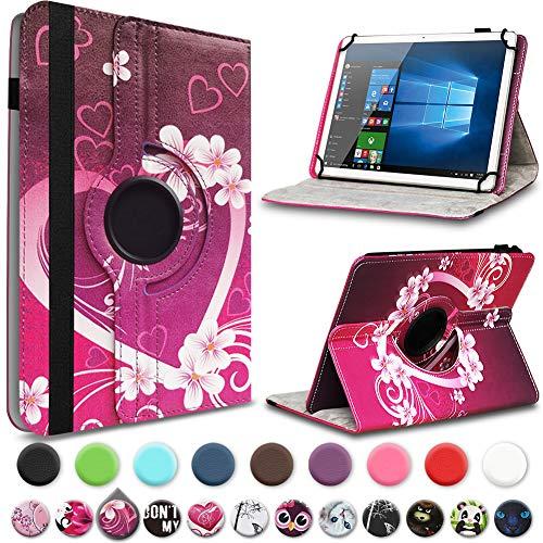 UC-Express Tasche kompatibel für Jay-tech Tablet PC TXE10DS TXE10DW TXTE10D TXE10DW2 Hülle Schutzhülle Case Cover 360° Drehbar Standfunktion, Farben:Motiv 3